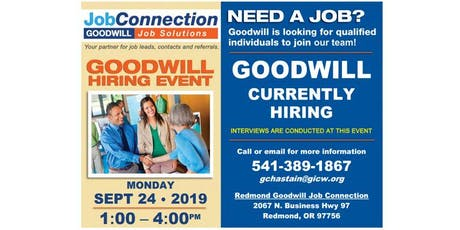 Goodwill is Hiring - Redmond - HE tickets