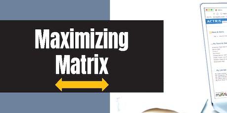 Maximizing Matrix - Round Rock tickets