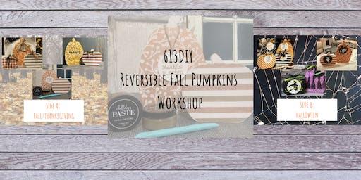 Fall/Halloween Reversible Pumpkin Sign