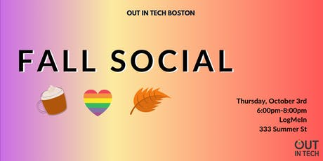 Out in Tech BOS | Fall Social at LogMeIn tickets