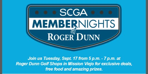 SCGA Member Nights: Roger Dunn - Mission Viejo