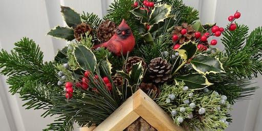 Evergreen Birdhouse Arrangement