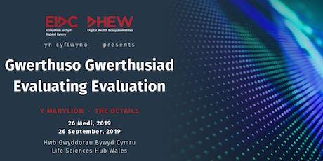 Gwerthuso Gwerthusiad   Evaluating Evaluation tickets