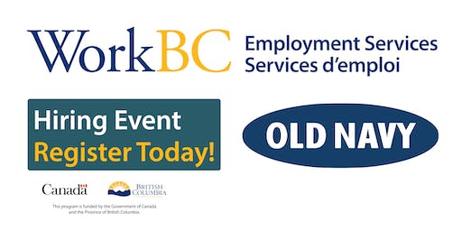 WorkBC South Surrey-White Rock Exclusive Old Navy Hiring Fair!