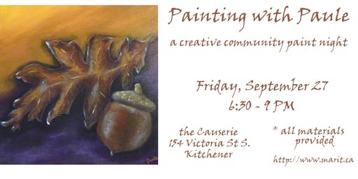 Painting with Paule (a community paint night!)