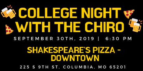 College Night with the Chiro tickets