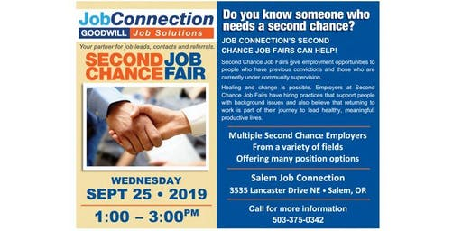 Job Fair - Second Chance - Salem - 9/25/19