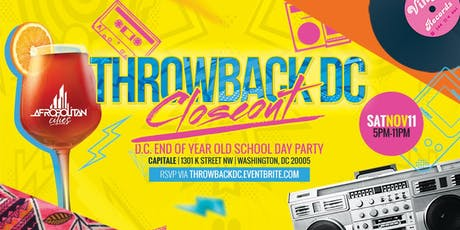 Throwback DC - Back to the 80s & 90s tickets