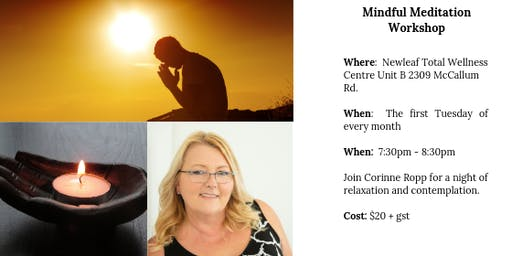 Join Corinne Ropp, CHT for an evening of relaxation and comtemplation