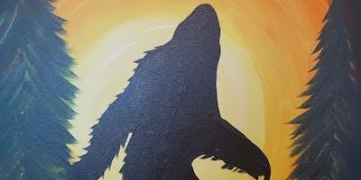 Paint Bigfoot at Chester's Pub