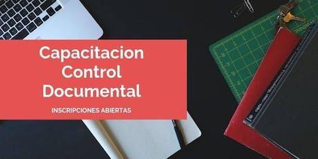 Capacitación Control Documental entradas