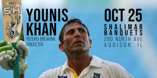 Younis Khan, Record-Breaking Cricketer - A Benefit Dinner for Charity (IL)