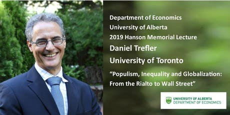 Dept. of Economics, Hanson Lecture 2019 - Daniel Trefler tickets
