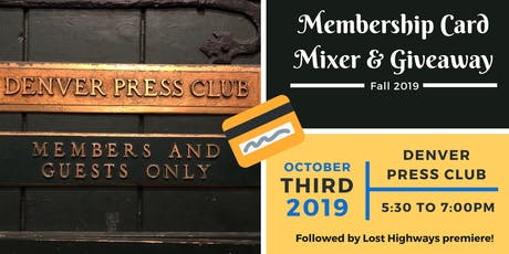 "The ""Pick Up Your Membership Card"" Mixer! tickets"