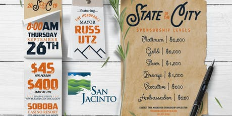 City of San Jacinto 2019 State of the City tickets