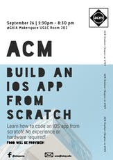 ACM Build an iOS App from Scratch Workshop tickets