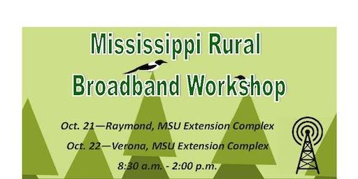 Mississippi Rural Broadband Workshop - Raymond