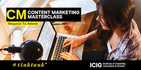 CONTENT MARKETING (CM) MASTERCLASS   (2 DAYS ) tickets