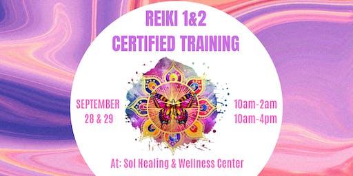 Reiki Level 1 & 2 Certified Training