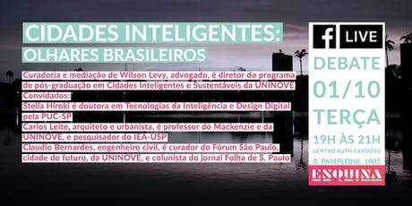 Cidades Inteligentes: Olhares Brasileiros ingressos