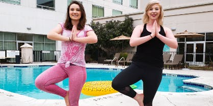 Poolside Yoga with Core Power Yoga