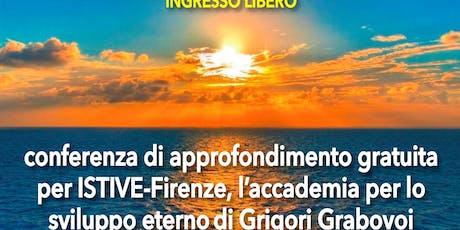 Presentazione Accademia ISTIVE di Grigori Grabovoi biglietti