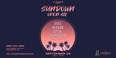 SünDown Open Air at Hook Hall Deck (21+) tickets