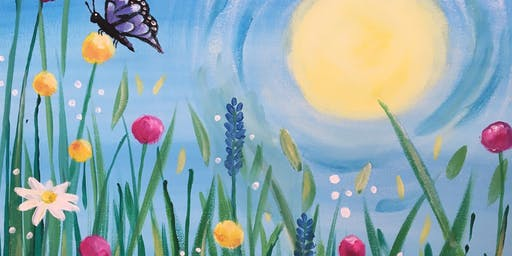 Paint & Sip Party Event - 'Blooming Beautiful' at Greystones  SAWTRY, Cambs