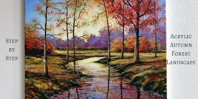 Acrylic Painting Classes (Nature Series-Fall Landscapes)