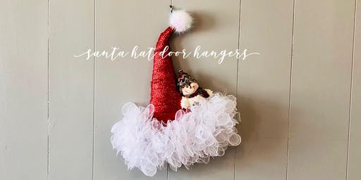 Make and Take Santa Hat Door Hanger