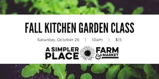 Fall Kitchen Gardening Class
