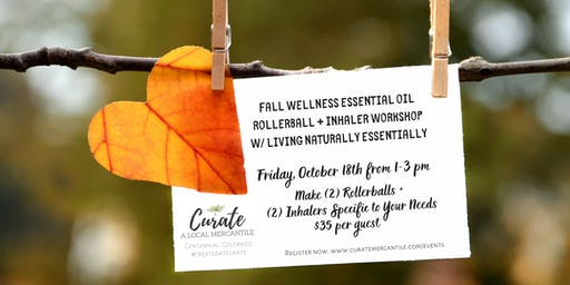 Fall Wellness Make + Take w/Essential Oils