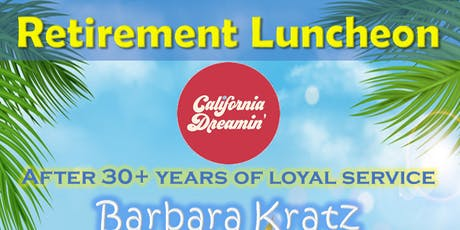Barbara Kratz Retirement Luncheon tickets