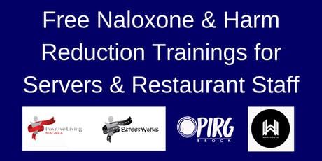 Naloxone & Harm Reduction Trainings for Servers & Restaurant Staff tickets