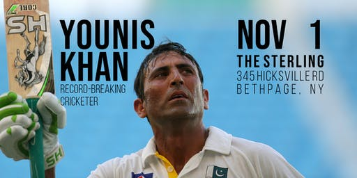 Younis Khan, Record-Breaking Cricketer - A Benefit Dinner for Charity (NY)
