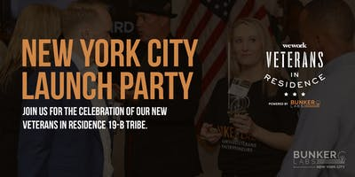 NYC Launch: WeWork Veterans in Residence Powered by Bunker Labs
