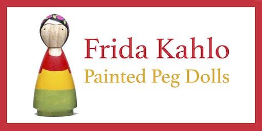 Frida Kahlo Peg Dolls