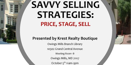 Savvy Selling Strategies: Price, Stage, Sell tickets