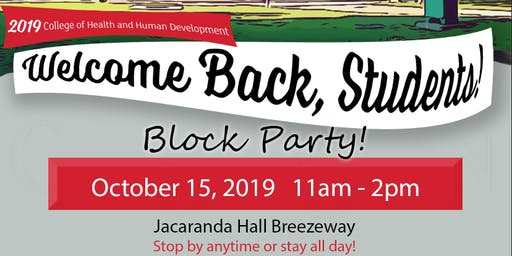 CSUN- HHD Welcome Back Block Party
