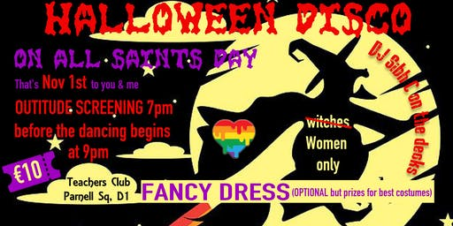 Outitude documentary screening and Halloween Fancy dress Disco fundraiser
