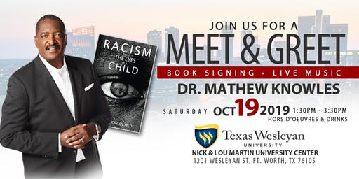 """MEET & GREET"" and Book Signing with Music Mogul  Mathew Knowles"