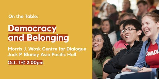 On the Table: Democracy and Belonging