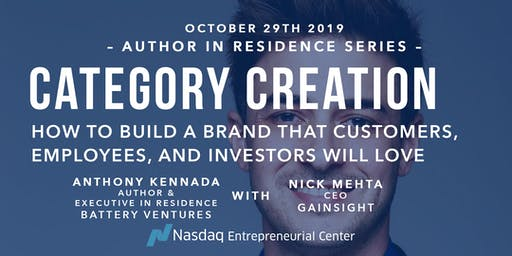 Author in Residence Series: Category Creation with Anthony Kennada