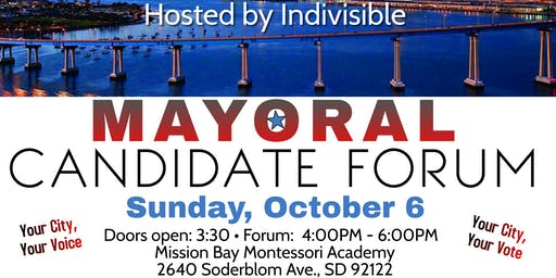 Indivisible Mayoral Forum - Come meet the candidates!