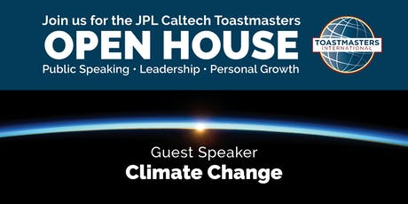Toastmasters Open House - Guest Speaker on Climate Change tickets