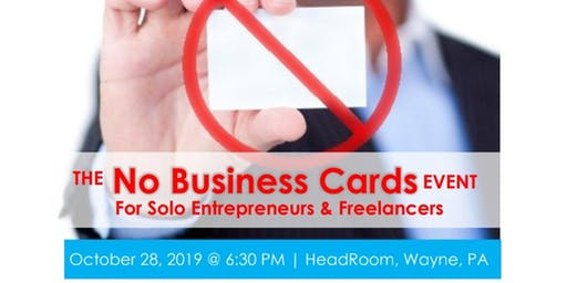 The No Business Cards Event for Solo Entrepreneurs & Freelancers