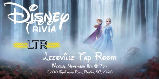 Disney Movie Trivia at Leesville Tap Room