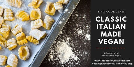 Sip & Cook Class: Classic Italian Made Vegan tickets