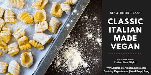 Sip & Cook Class: Classic Italian Made Vegan