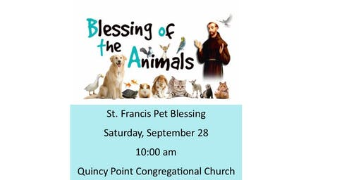 St. Francis Pet Blessing to Benefit Quincy Animal Shelter